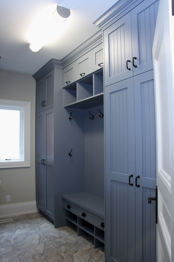 Ocean Blue Transitional Style Bench And Storage