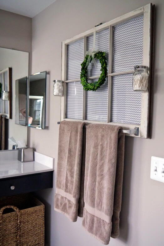Towel Rack And Mirror Combined