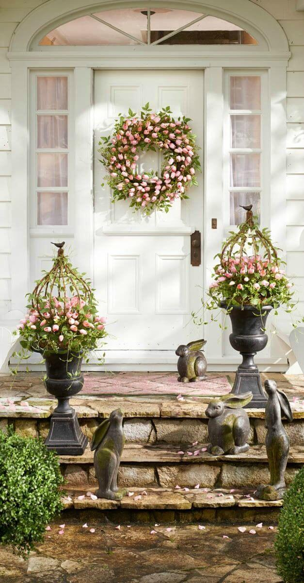 House Decorating Ideas Spring Intended 17 Use Plants To Create An Inviting Entryway 28 Best Spring Decoration Ideas And Designs For 2018