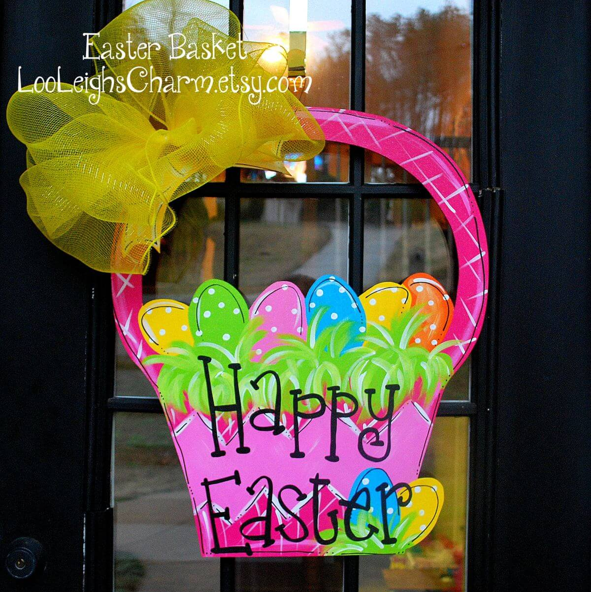 Bright Basket Door Decoration