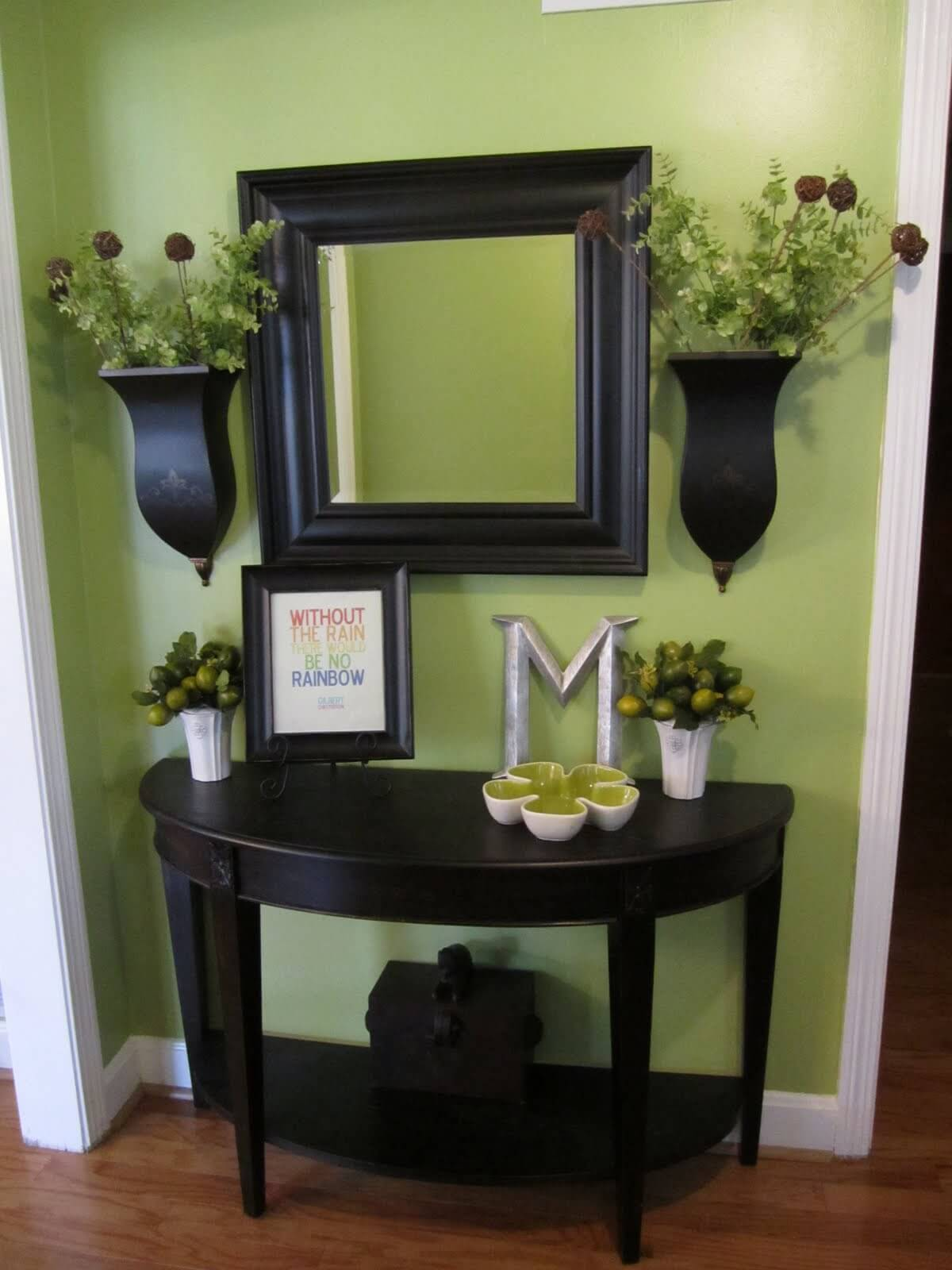 skinny entryway table. Deep \u0026 Rich Entry Table Decoration Skinny Entryway .