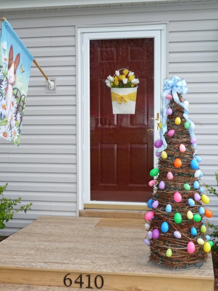 Super Simple DIY Easter Egg Tree