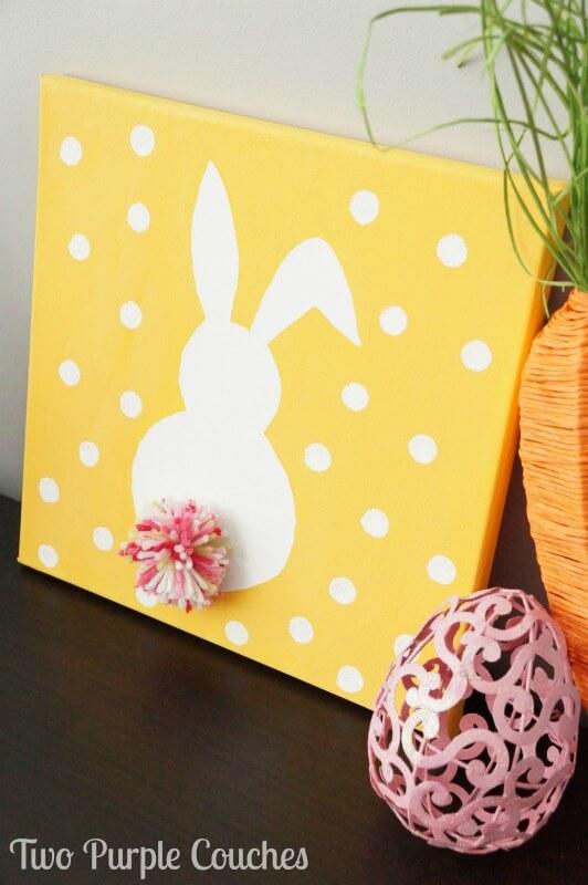 DIY Pom-Pom Easter Bunny Art
