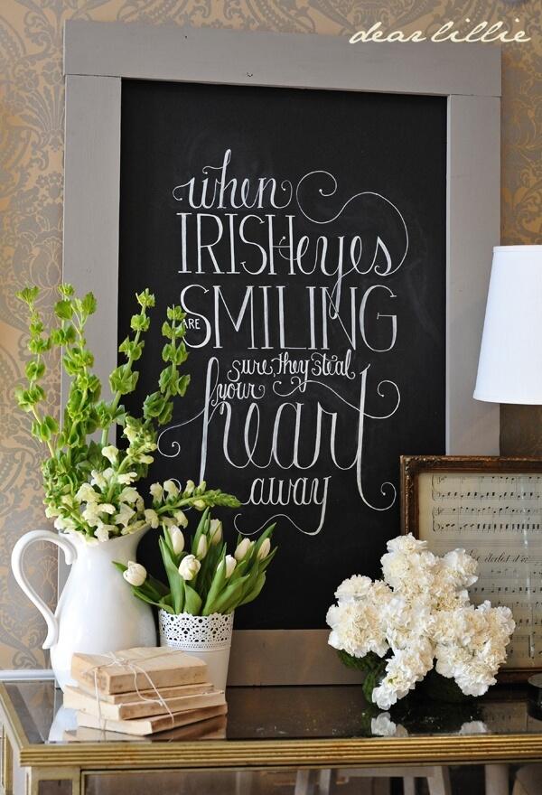 Irish Eyes Quote DIY Art