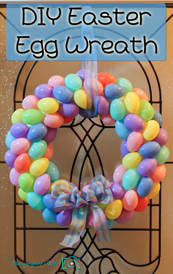 Easy Plastic Easter Egg Wreath
