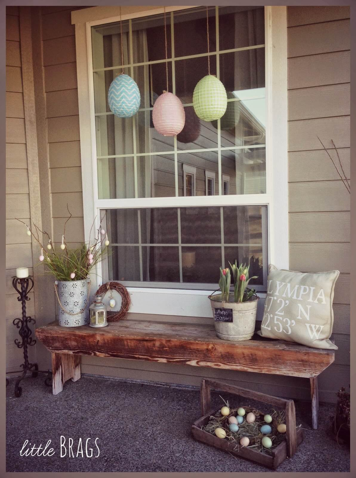 23 best easter porch decor ideas and designs for 2018 for Outdoor decorating ideas for spring