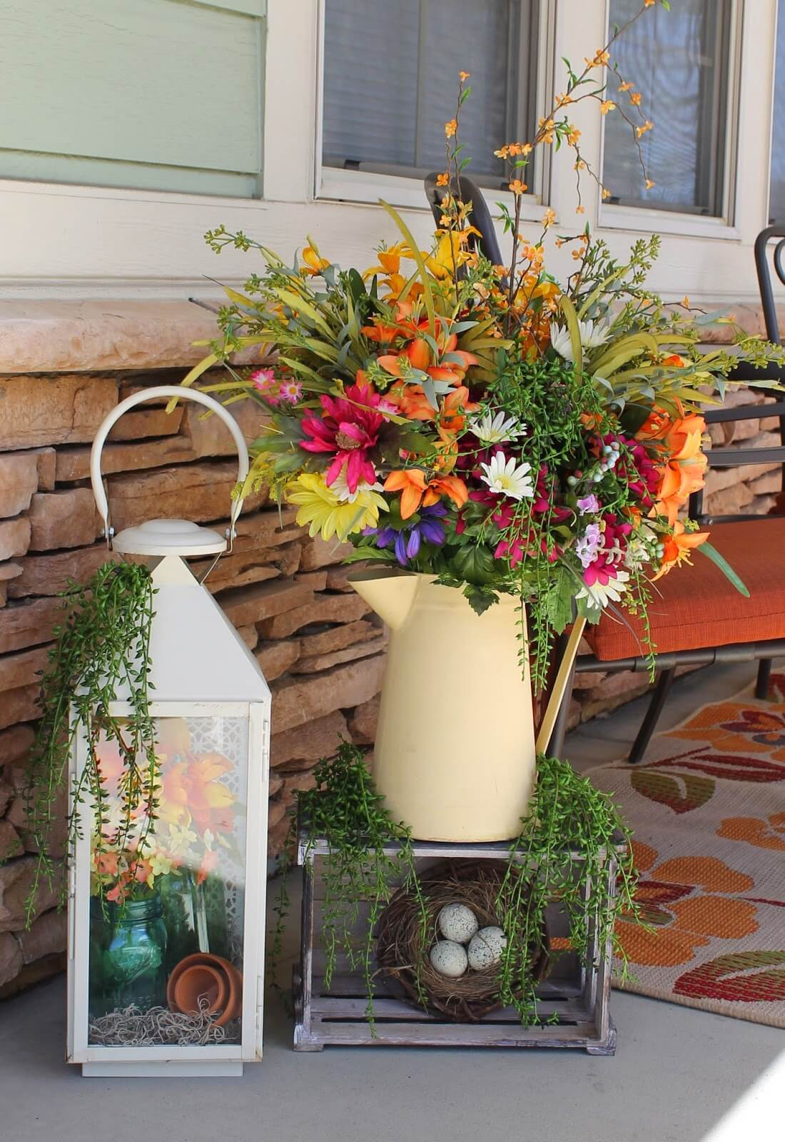 Watering Can and Lantern Floral Displays