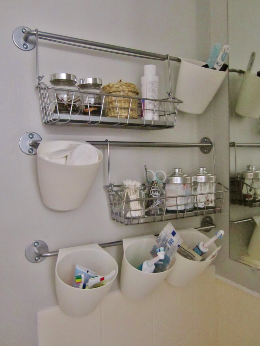 Storage in small bathroom - Hot Rods Bathroom Style