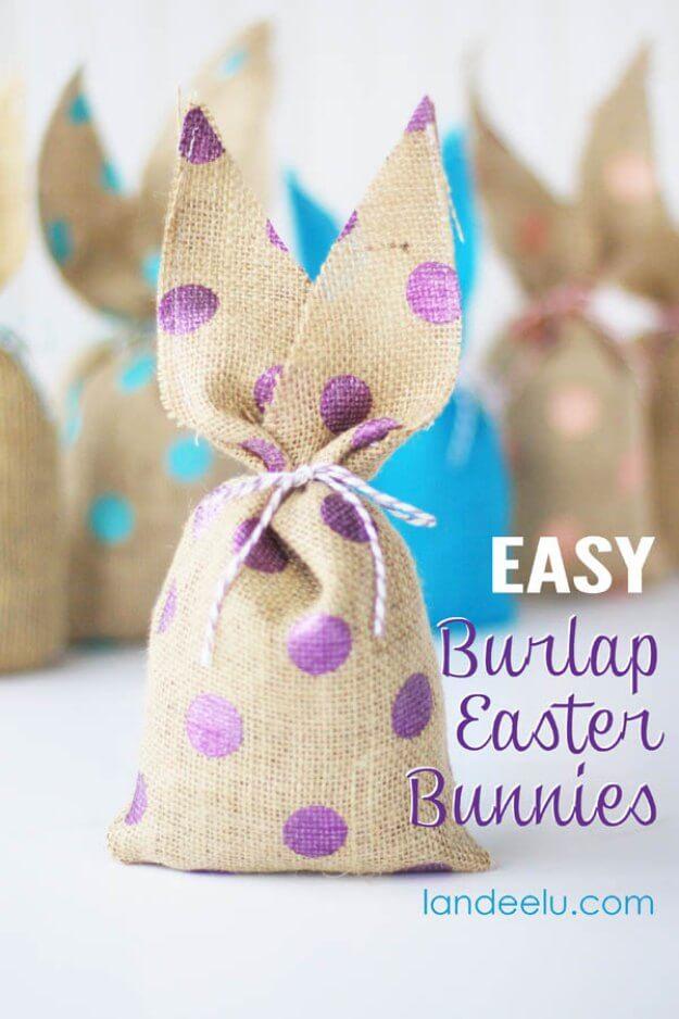 Simple Burlap Easter Bunny Craft