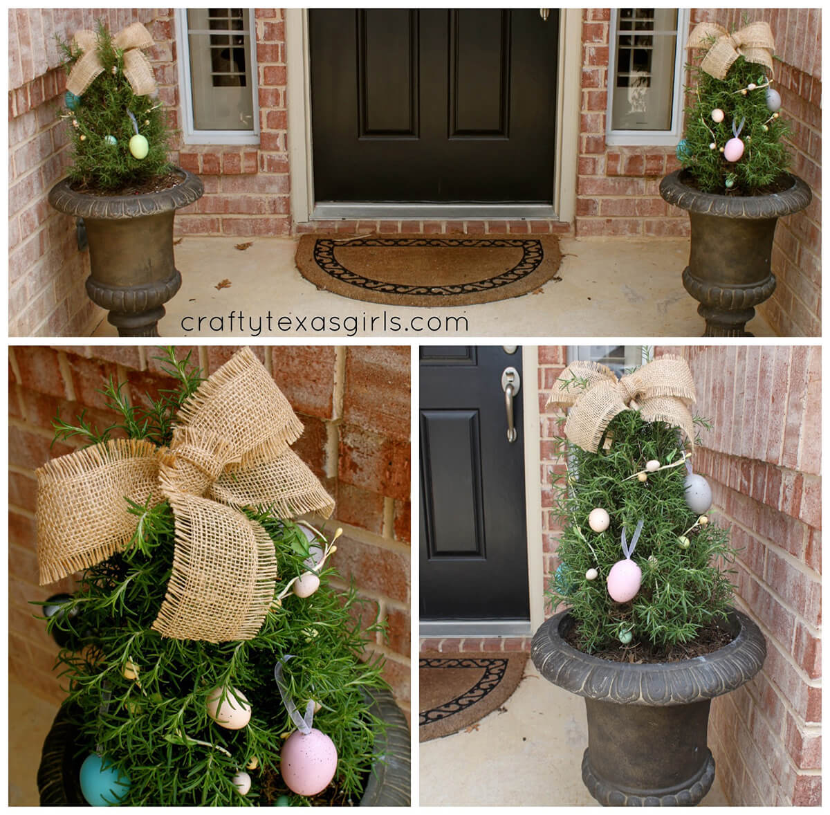 Egg Tree with Rustic Burlap Bow