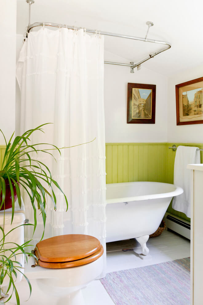 Lime Green Wainscoting Wake-Up Call