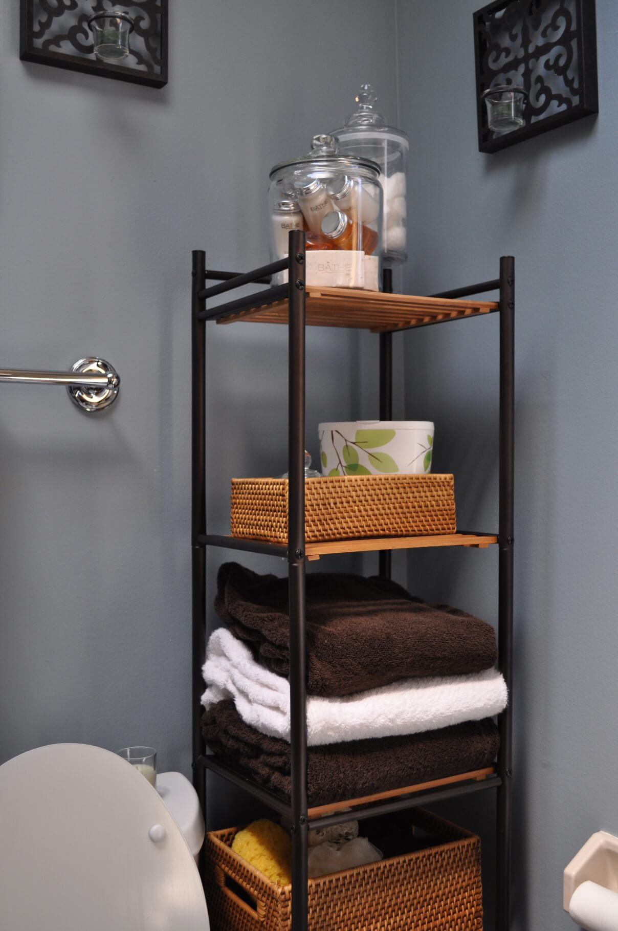 small ideas space optimizing bathroom shelving for best