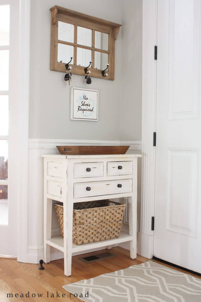 console design throughout entryway table with drawers rustic drawer