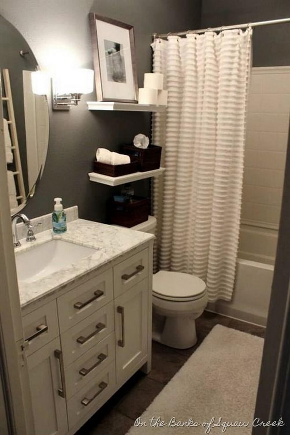 32 best small bathroom design ideas and decorations for 2019 - Cheap bathroom ideas for small bathrooms ...