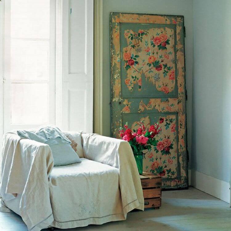 Fading Layers Decoupaged Statement Door