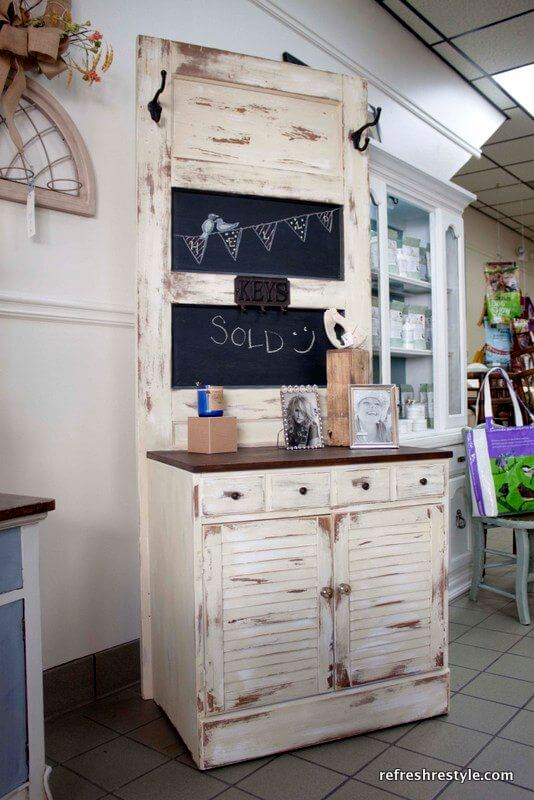 Dry Sink and Tiwn Panel Chalkboard Combo