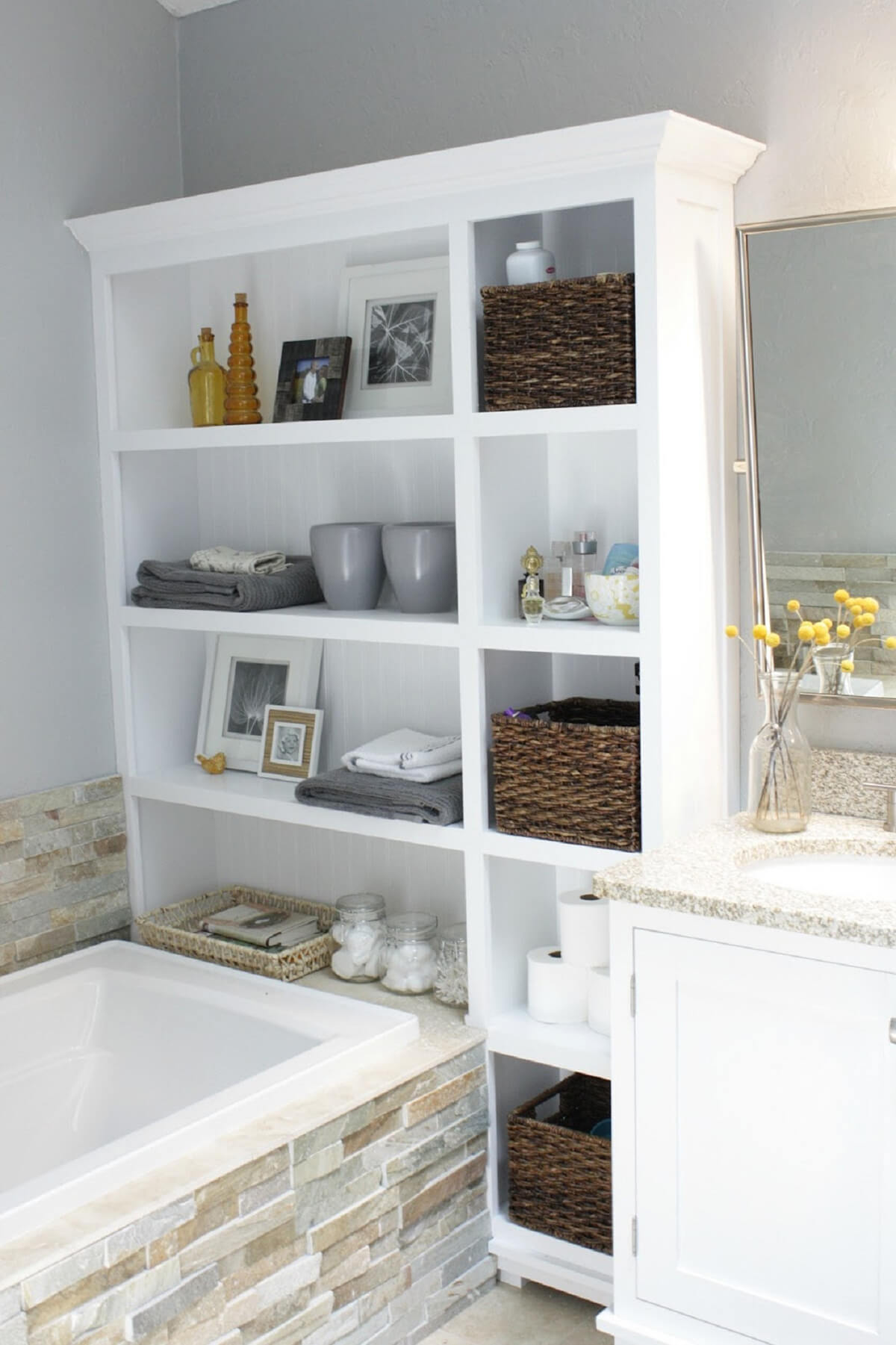 Storage Ideas For Small Bathrooms. 28 Re Purpose That Old Bookshelf