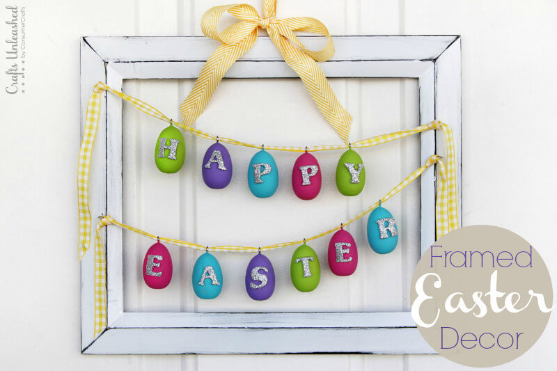 Framed Happy Easter Egg Banner