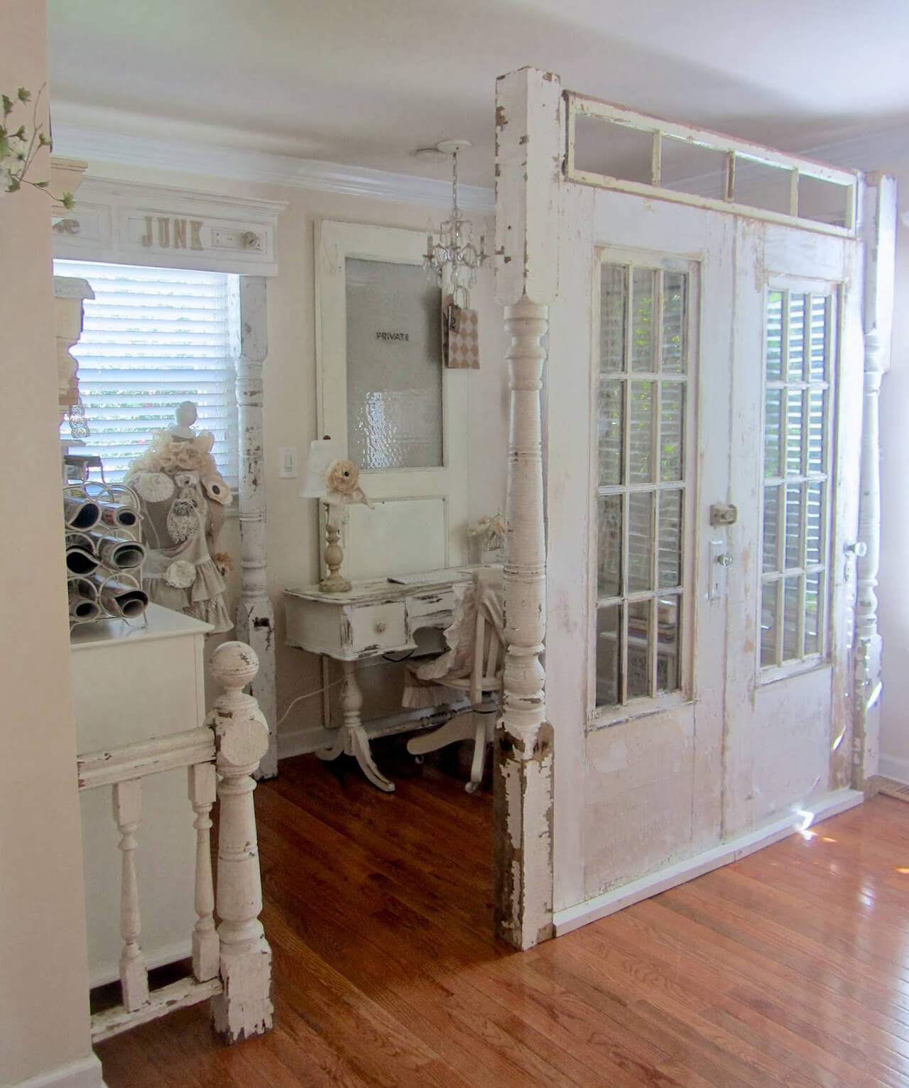 Lovely Antique Double Door Room Divider