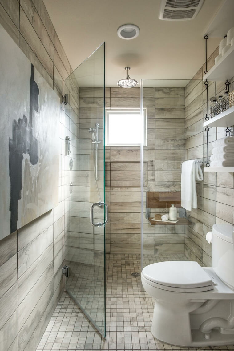 30. Space Expanding Horizontal Tiles In Neutral Tones