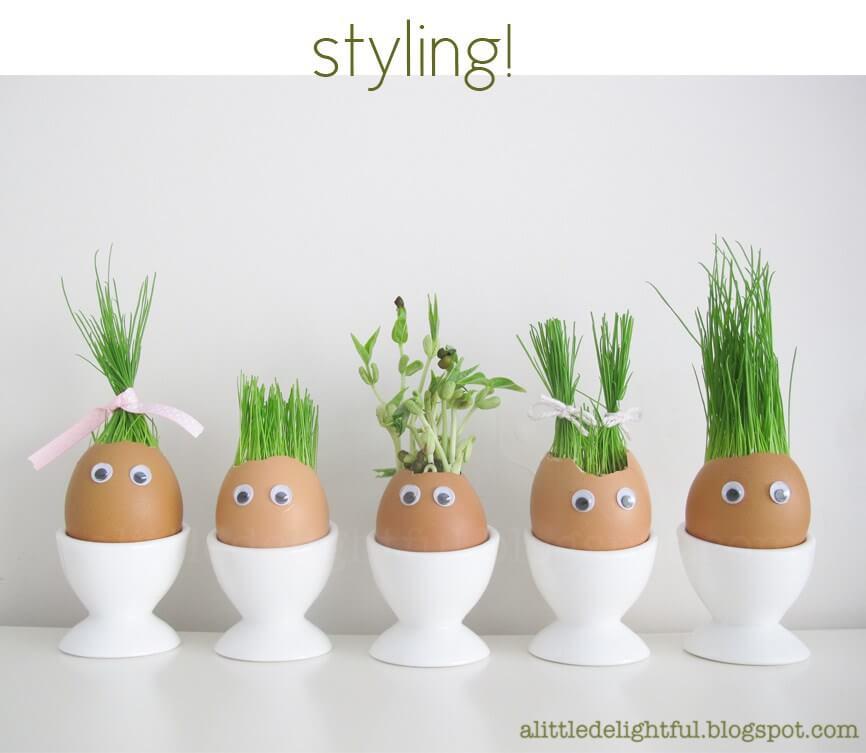 Easy DIY Egg Heads Easter Craft