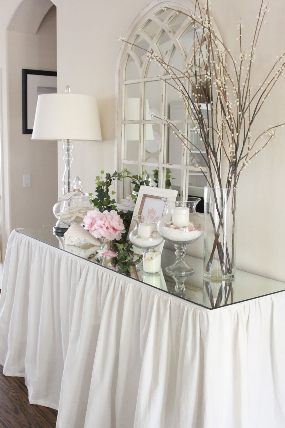 Beau Entryway Table With Glass Top Gala