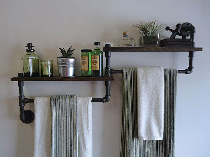 Best Small Bathroom Storage Ideas And Tips For - Decorative towel racks for bathrooms for small bathroom ideas