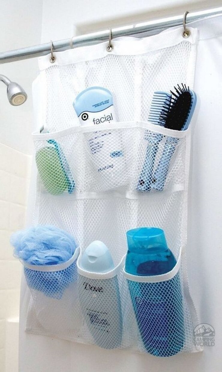 Bathroom storage ideas for small spaces - For That Dorm Room Look