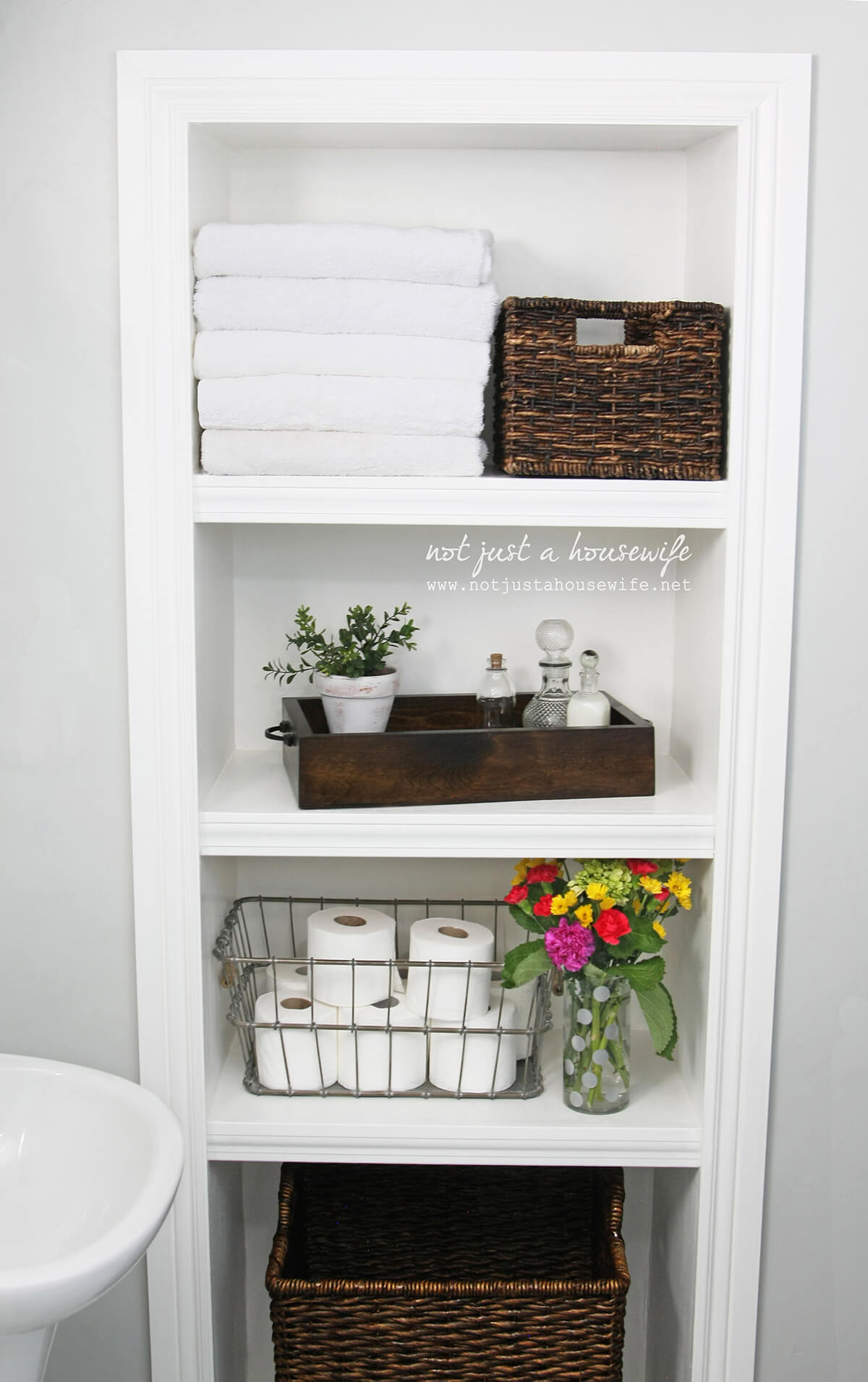 40. Sleek and Clean and Pristine : bathroom storage ideas  - Aquiesqueretaro.Com