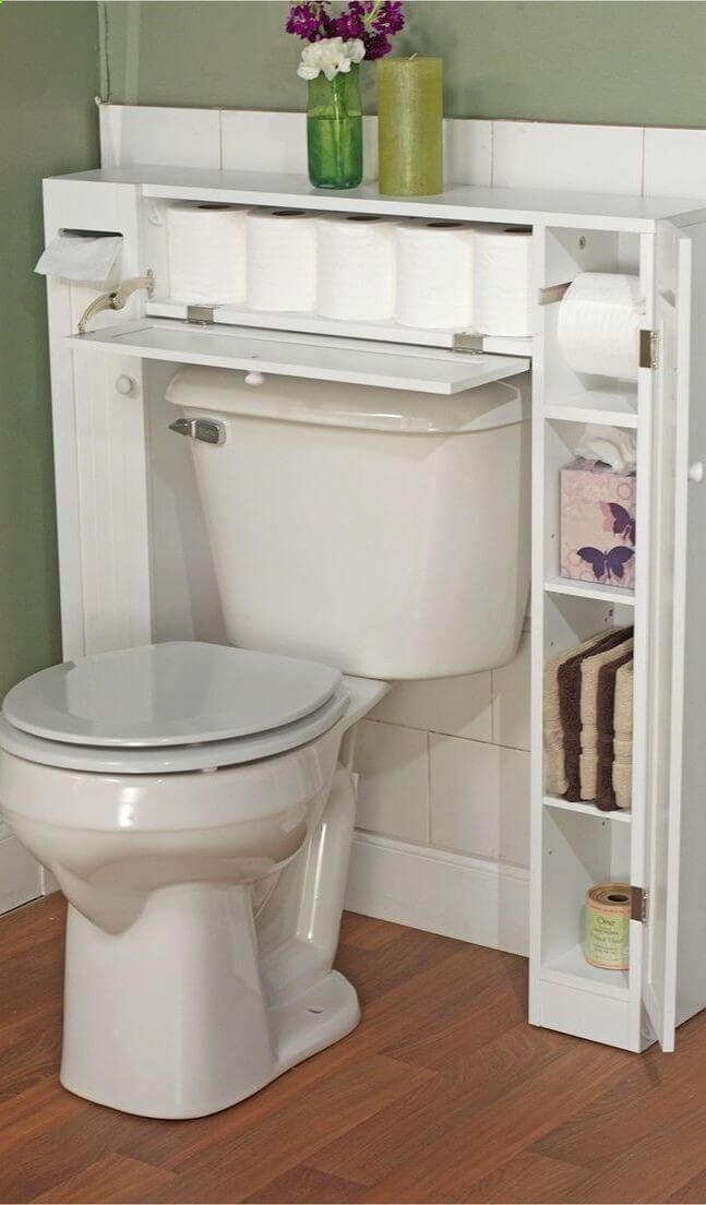 Best Small Bathroom Storage Ideas And Tips For - Toilet organizer for small bathroom ideas