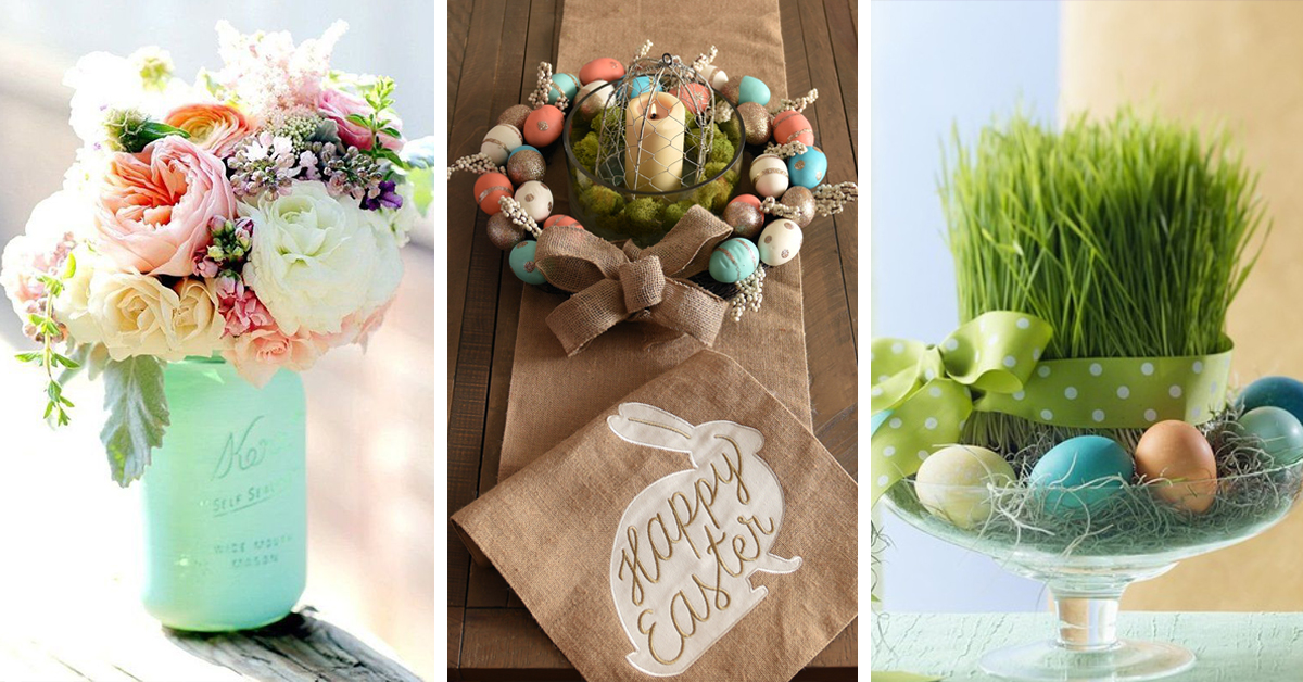 27 Best DIY Easter Centerpieces (Ideas and Designs) for 2019