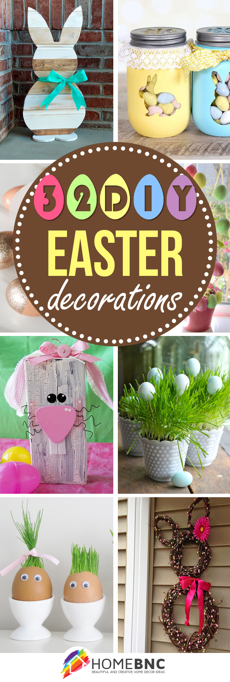 32 best diy easter decorations and crafts for 2018 for Diy easter decorations for the home