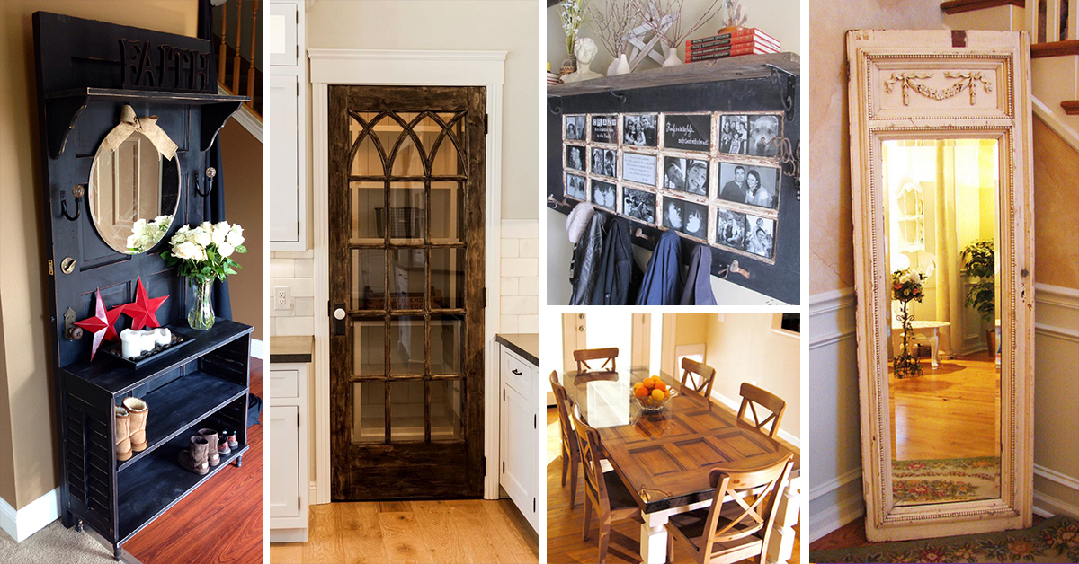 33 Best Repurposed Old Door Ideas And Designs For 2019