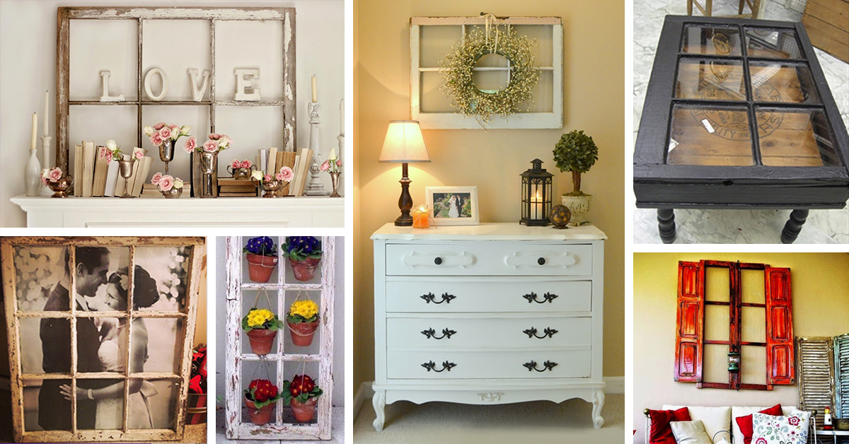 Do It Yourself Home Design: 25 Best Repurposed Old Window Ideas And Designs For 2017