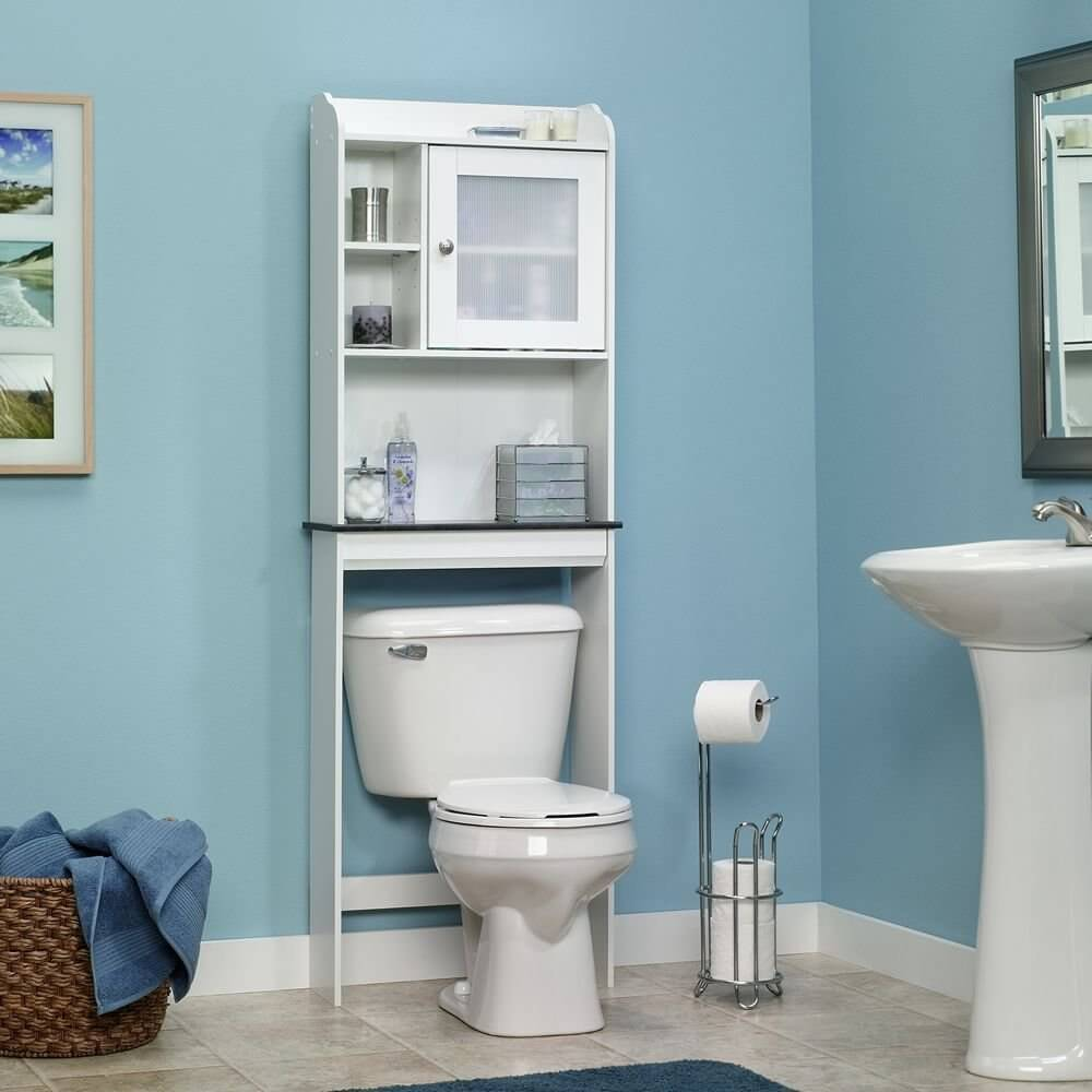 sauder caraway etagere bath cabinet - Small Bathroom Cabinets Storage