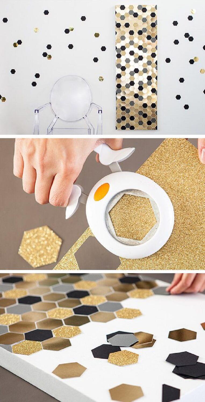 Easy DIY Giant Confetti Mosaic