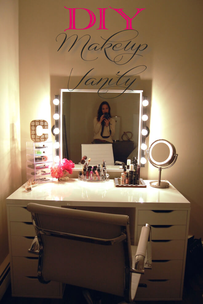 how to build a makeup vanity