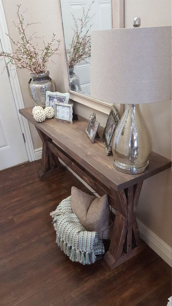Simple Rustic Decor With Silvery Accents