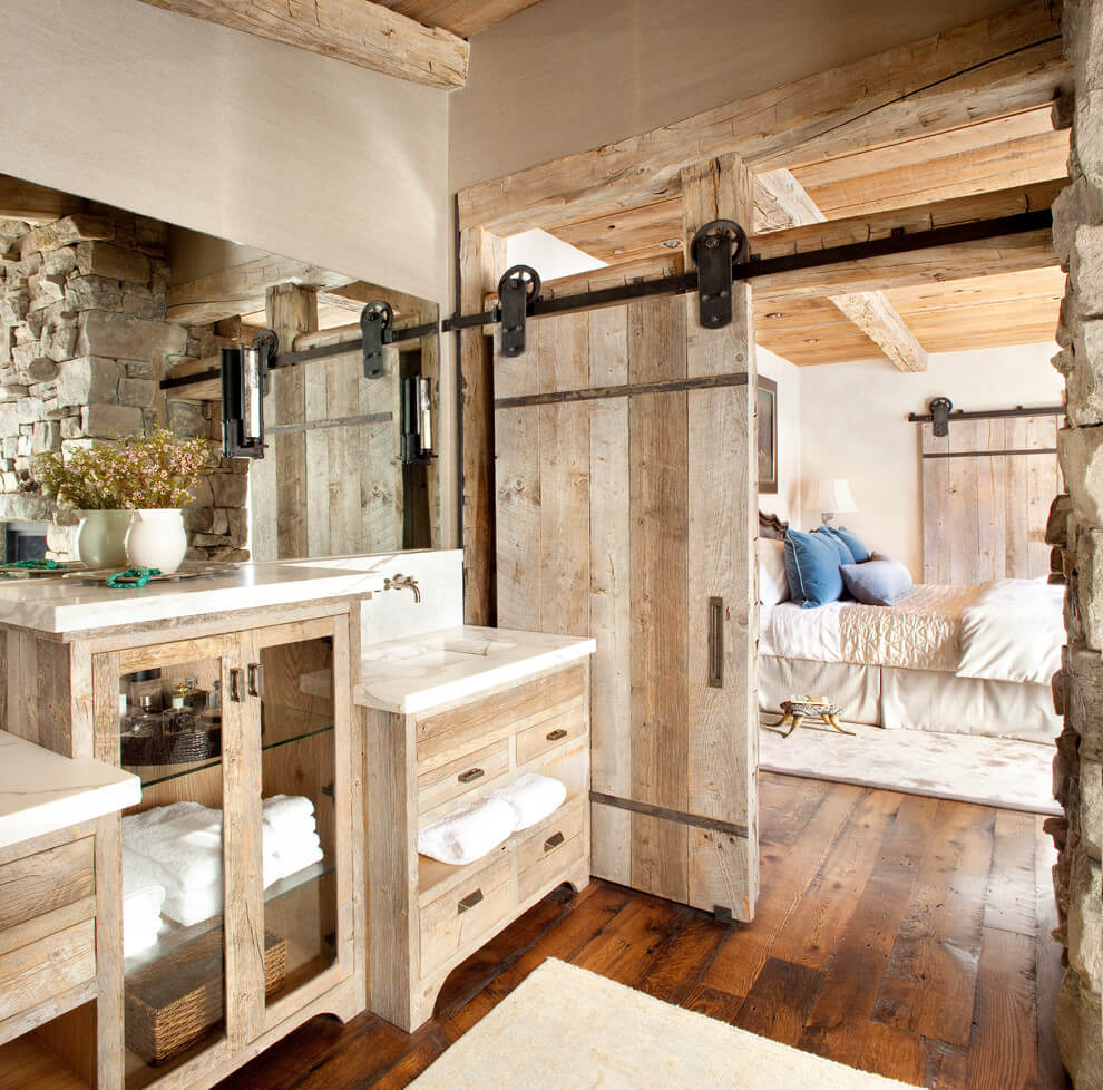 Beautiful Sliding Barn Door For Master Bathroom