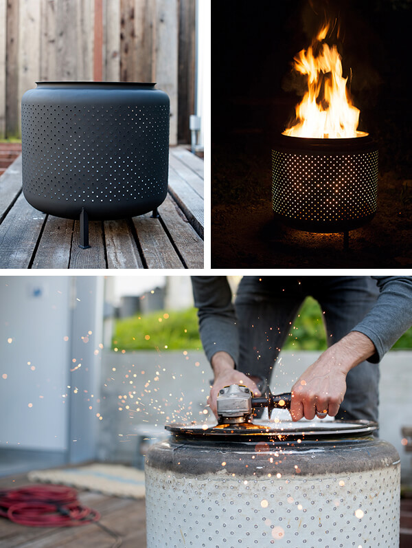 Repurposed Washing Machine Drum Firepit