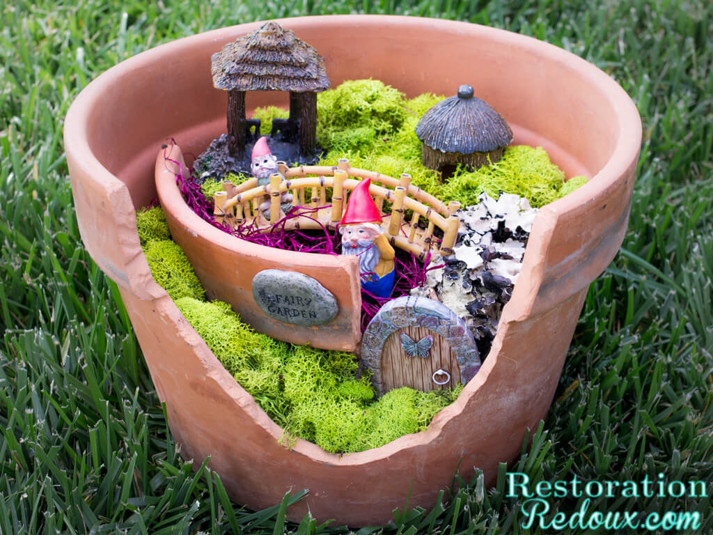 Garden Craft Ideas garden craft ideas heres how i did it following most of virginias step by step 1134x850 Diy Flower Pot Fairy Garden Craft