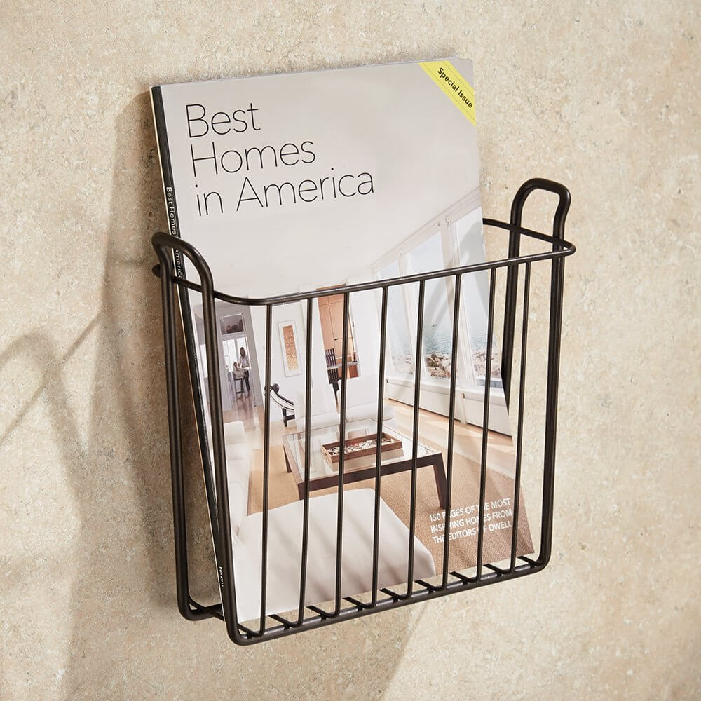 23 best bathroom magazine rack ideas to save space in 2019. Black Bedroom Furniture Sets. Home Design Ideas