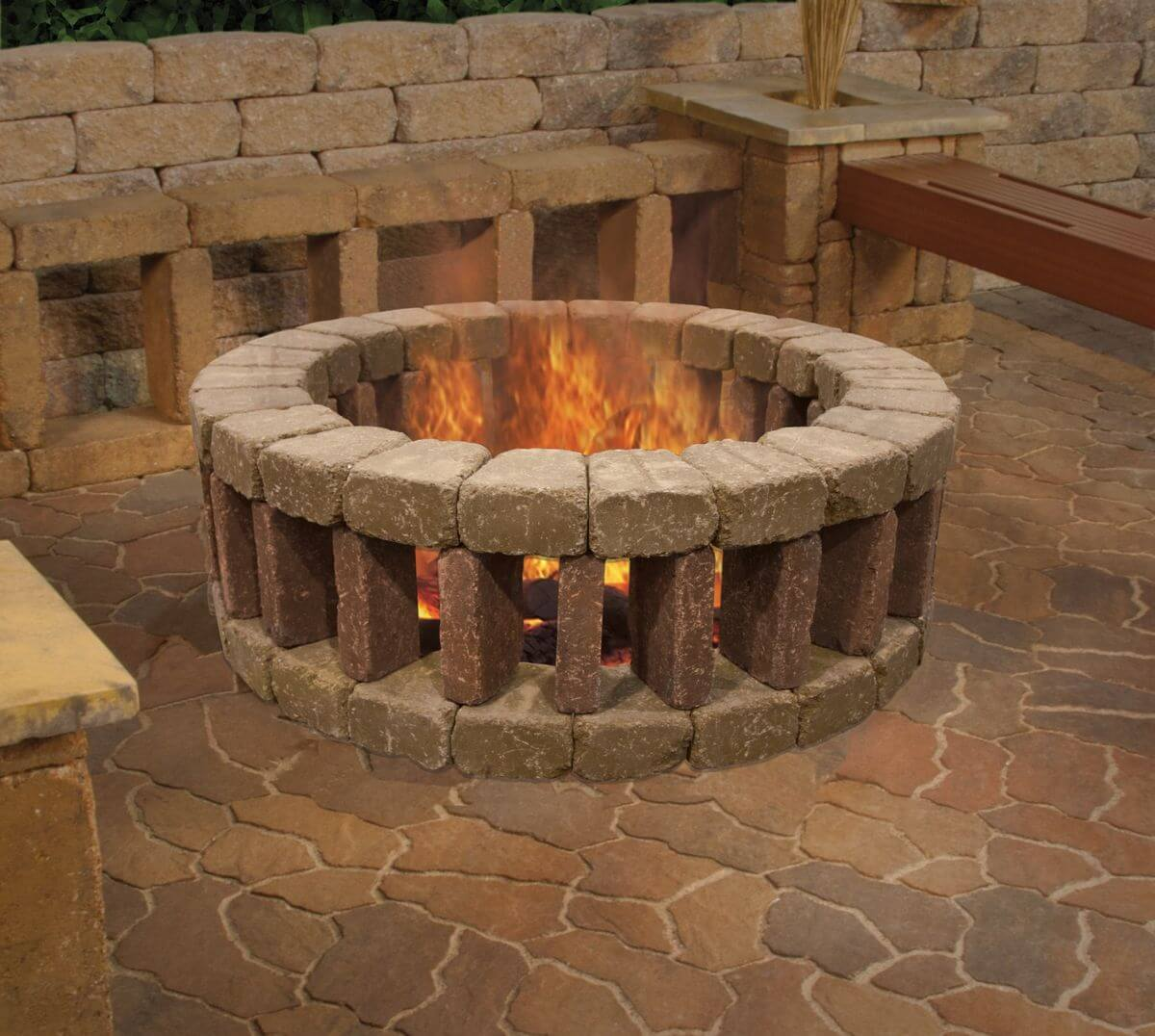 27 best diy firepit ideas and designs for 2018 for How to build a fire pit with concrete blocks