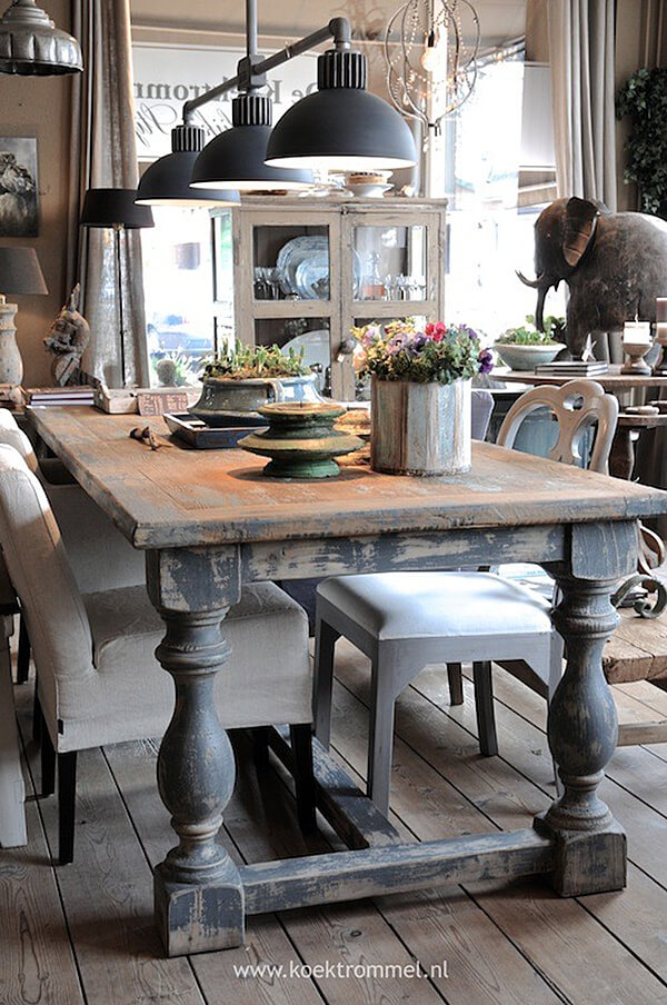 A Warm Rustic Design with Antique Charm