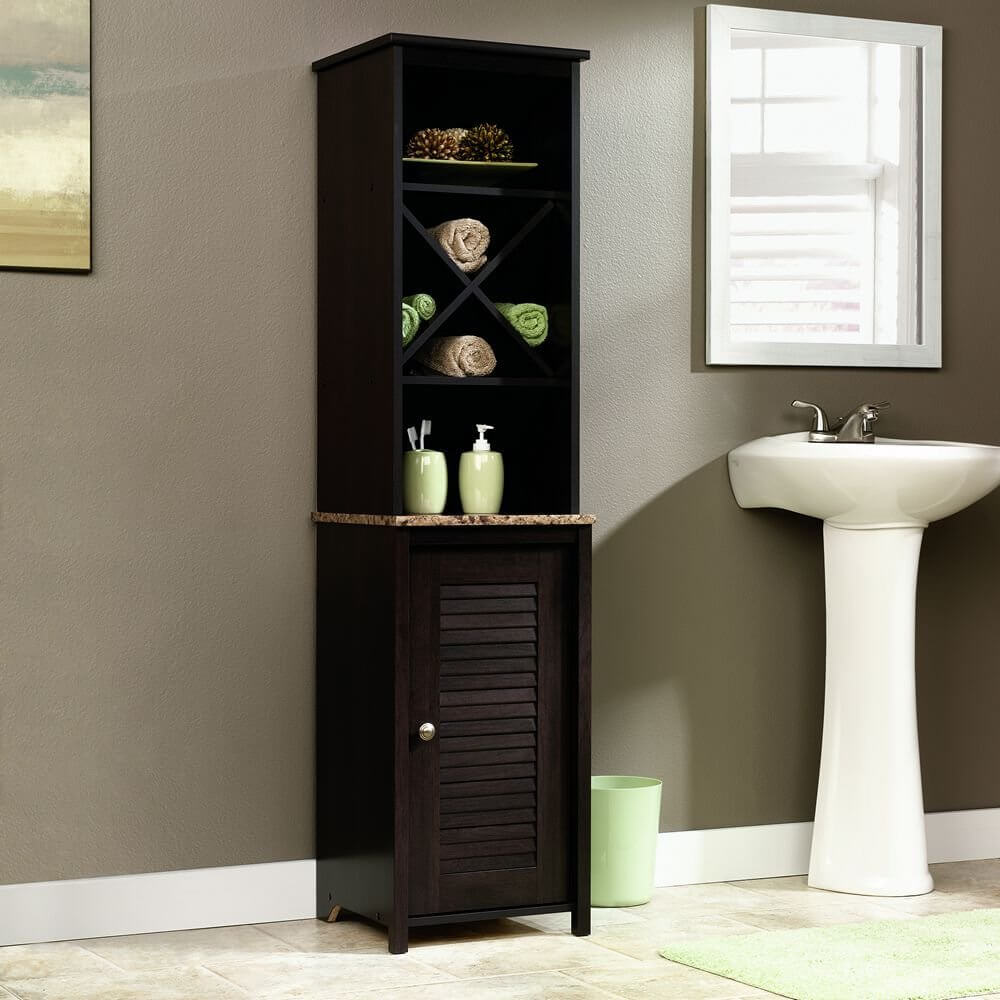 Sauder Linen Tower Bath Cabinet 26 Best