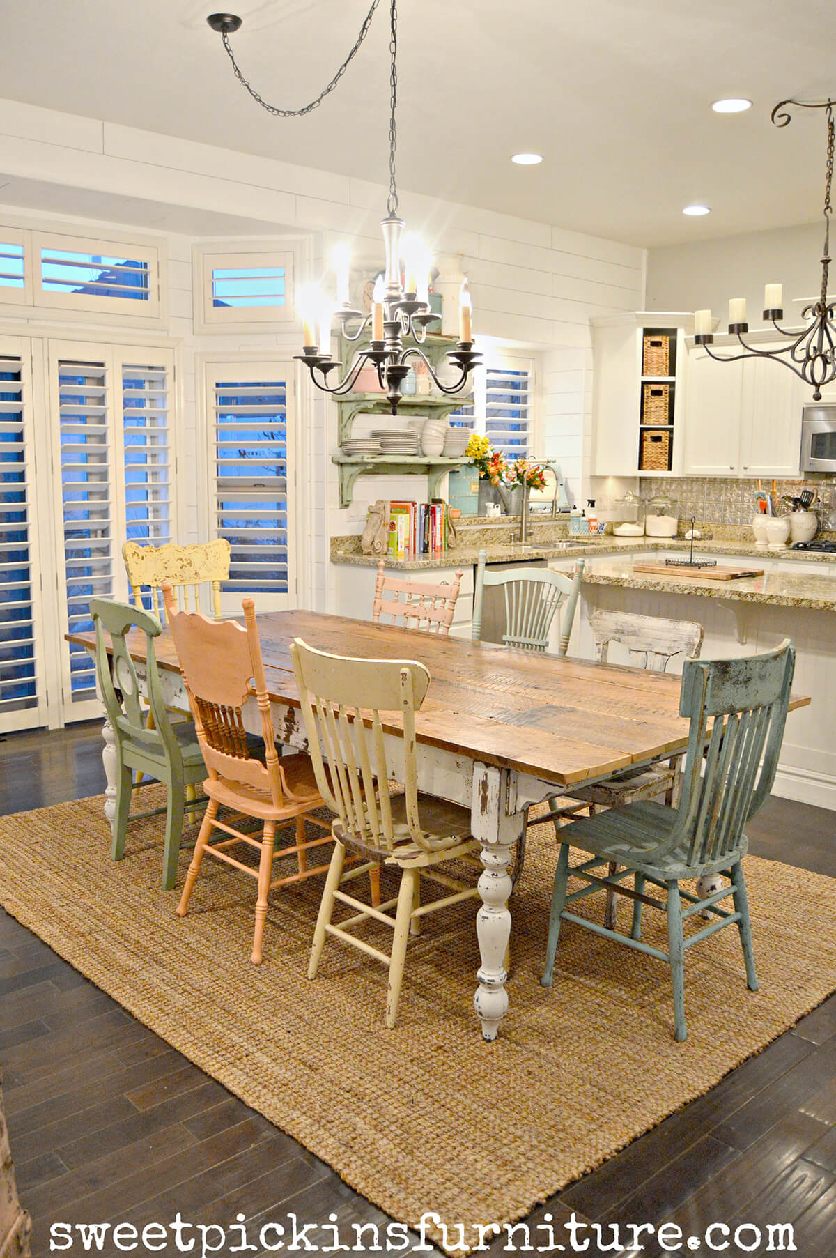 37 best farmhouse dining room design and decor ideas for 2018 for Farmhouse style dining set