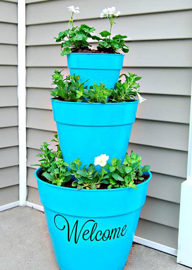 Welcome Spring 17 Great Diy Flower Pot Ideas For Front