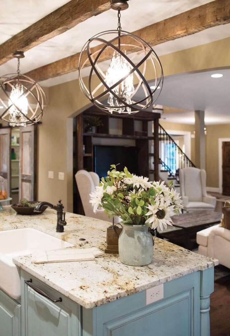 A Unique Spin On Rustic Lighting