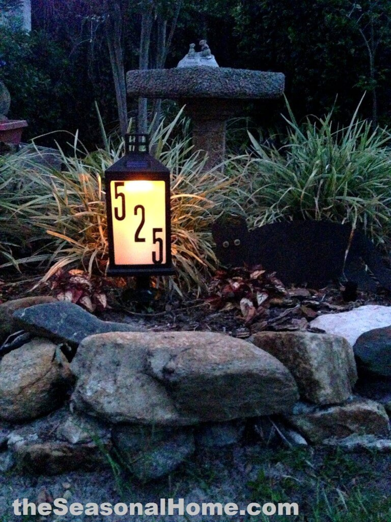 Solar-Powered Lantern Glowing Address Sign