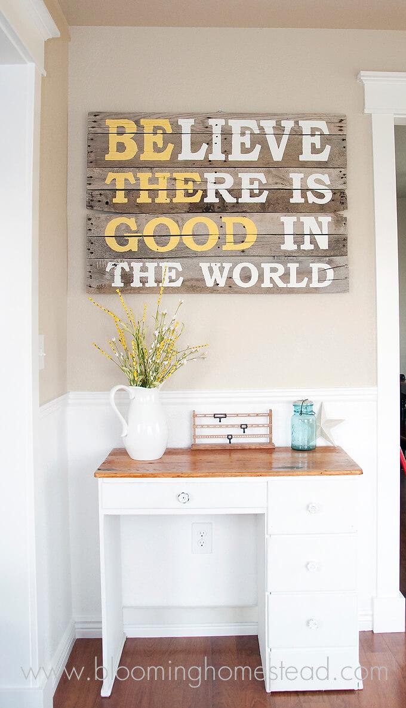Inspirational Message Rustic Board Art
